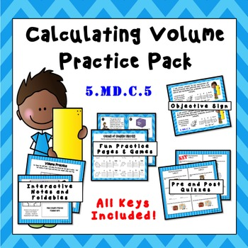 5.MD.C.5 Calculating Volume Practice Pack