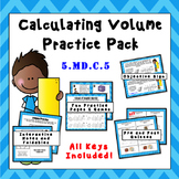 5.MD.C.5 Calculating Volume Practice Pack