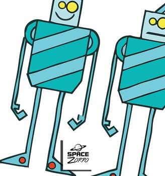 5 METAL Robots images