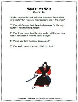 #5 Magic Tree House- Night of the Ninjas Novel Study