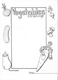 5 Major Food Group Poster/Coloring pages