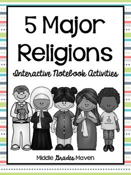 5 Major Religions-Interactive Notebook Activities