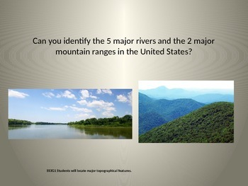 5 Major Rivers and 2 Mountain Ranges PPT
