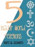 5 Major World Religions Activities
