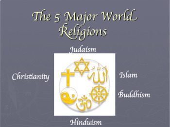 5 Major World Religions Bundle