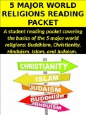 5 Major World Religions Research Reading Packet