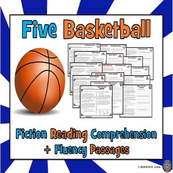 5 Basketball Reading Comprehension Passages and Questions: Summer Reading