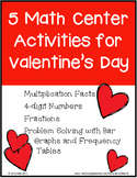 5 Math Center Activities for Valentine's Day