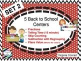 Back to School Math Centers---Set 2