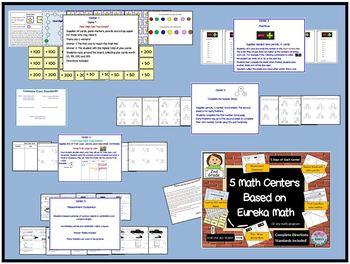 5 Math Centers Based on Eureka Math