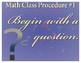 5 Math Class Procedures Mini-Posters