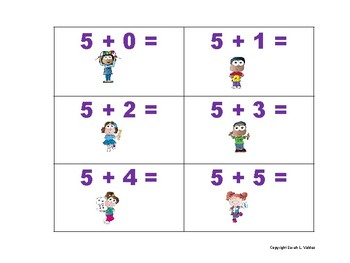 5 Math Facts Flash Cards