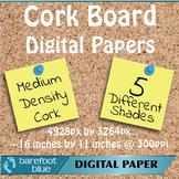 5 Medium Grain Cork Board Backgrounds Digital Papers High