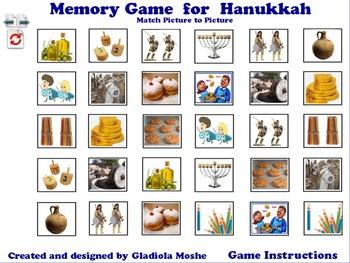 5 Memory Game for Hanukkah photo to photo English