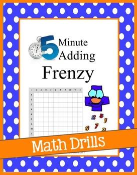 5 Minute Addition Math Drills