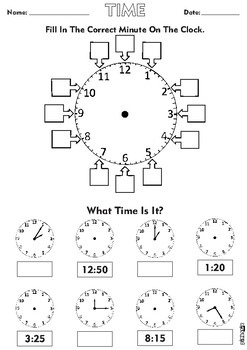 5 Minute Analogue Clock Time