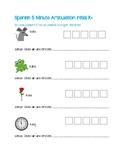 5 Minute Articulation Spanish /R/