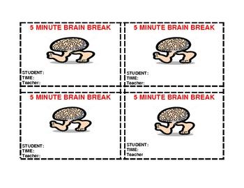 5 Minute Brain Break Pass