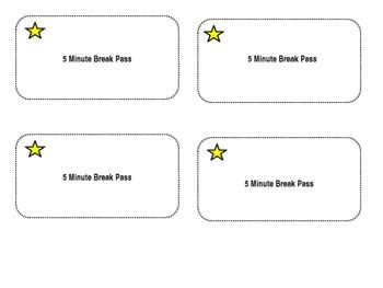 5 Minute Break Pass