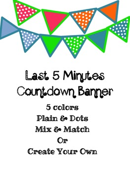 5 Minute Clean Up Countdown Banner