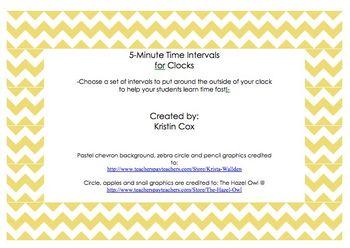 5-Minute Clock Intervals
