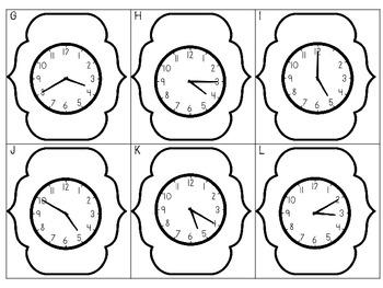 5 Minute Clock Stop {A Freebie Scoot Game}