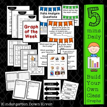 5-Minute Daily Data Analysis & Graphing Board Bundle for Entire Year