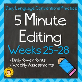 5 Minute Editing Weeks 17-32  HALF YEAR BUNDLE (2)- Daily Language Conventions