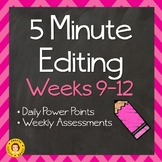 5 Minute Editing - Weeks 9 - 12 ~ Daily Language Conventions Practice