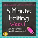 5 Minute Grammar Editing for TEST PREP - Week  1