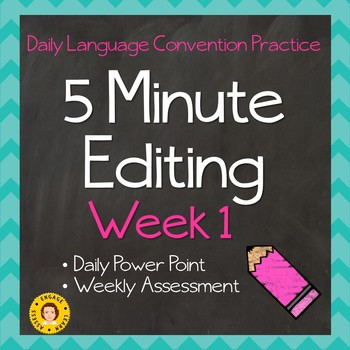 FREEBIE !! 5 Minute Grammar Editing ~ Daily Language Conventions Practice