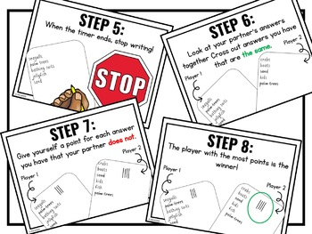 5-Minute Faceoff {A Paperless Partner Brain Break Game}