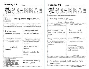 5 Minute Grammar Daily Practice A Quick Complete Approach to Grammar
