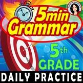 Grammar 5 Minute Daily Grammar Worksheets Spiral Review 5th GRADE Standards