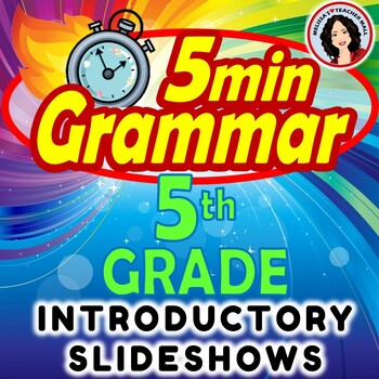5 Minute Grammar Slideshow Follow Along Notes Introducing Grammar