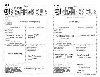 5 minute grammar daily grammar worksheets 4th grade practice and assessment. Black Bedroom Furniture Sets. Home Design Ideas