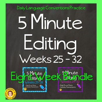 5 Minute Grammar Editing  BUNDLE FOUR - Weeks 25-32 - Language Conventions