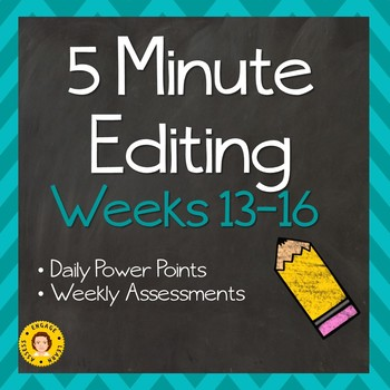 5 Minute Grammar Editing -- Weeks 13 - 16 ~ Daily Language Conventions Practice