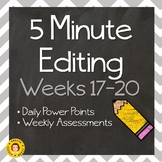5 Minute Grammar Editing -- Weeks 17-20 ~ Daily Language Conventions Practice