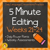 5 Minute Grammar Editing -- Weeks 21-24 -- Daily Language Conventions Practice