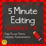 5 Minute Grammar Editing Weeks 5-8 ~ Daily Language Conventions Practice