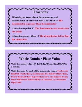 MathTask Cards-Grades 4-5
