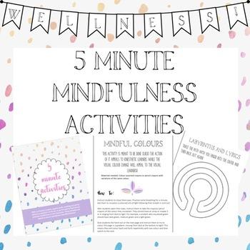 5 Minute Mindfulness Activities