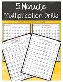 5 Minute Multiplication Drills