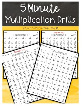 5 Minute Multiplication Drills