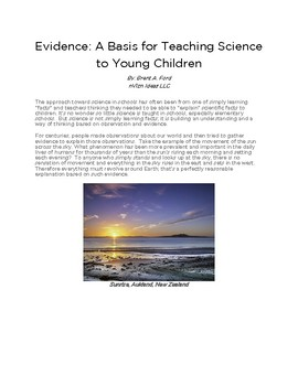 5-Minute PD: Evidence: A Basis for Teaching Science to Young Children