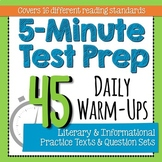 5-Minute Test Prep - 45 Mini-Assessments * Warm-Ups * Exit