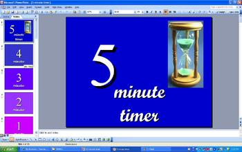 Cl Room 5 Minute Timer Powerpoint With Music