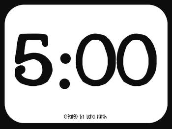5 minute timer for powerpoint by creative teacher mama tpt