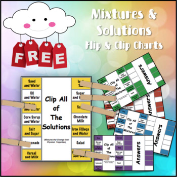 5 Mixture and Solution Flip and Clip Charts